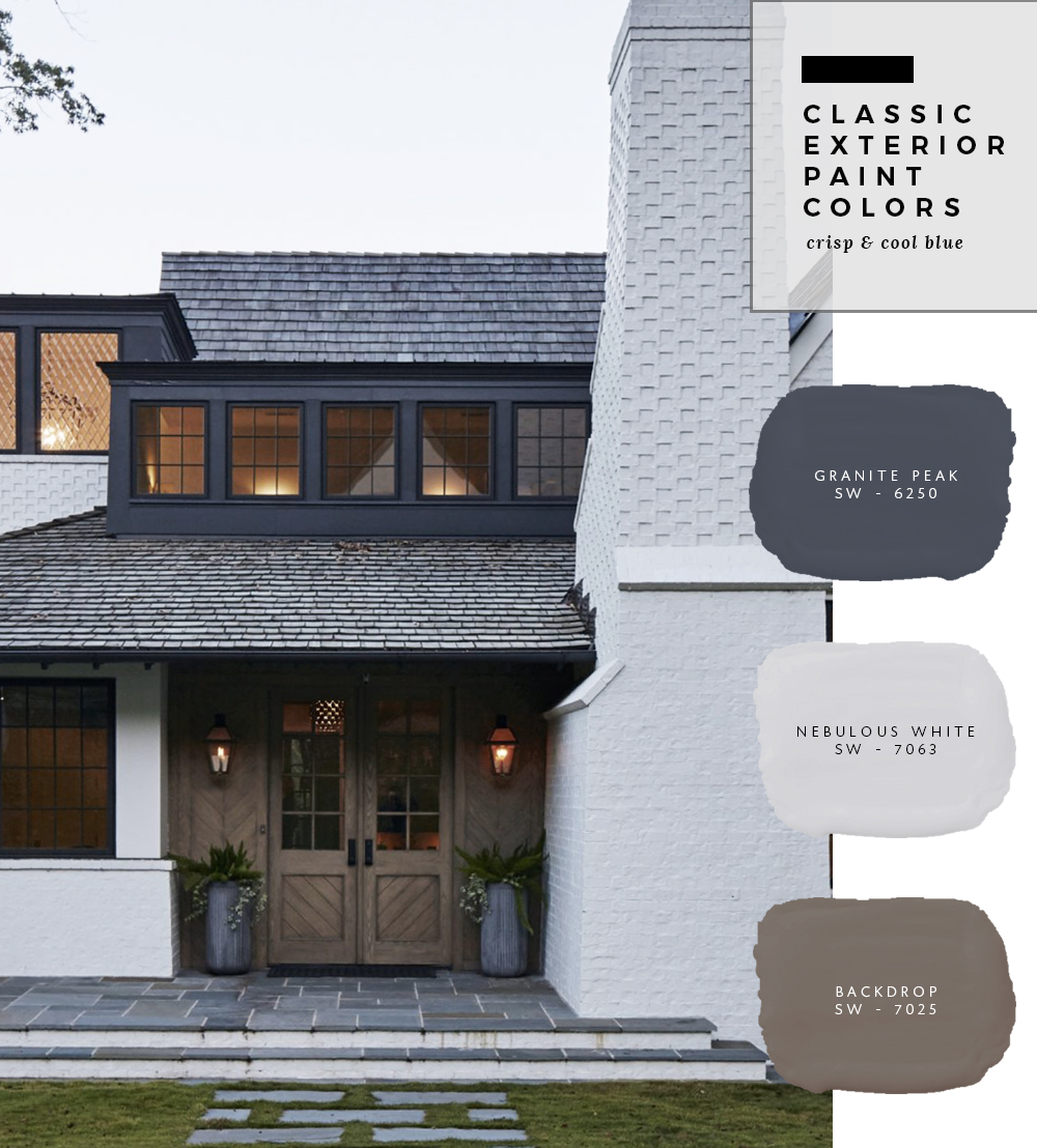 classic exterior paint colors contrasting neutrals 9 room for tuesday. Black Bedroom Furniture Sets. Home Design Ideas