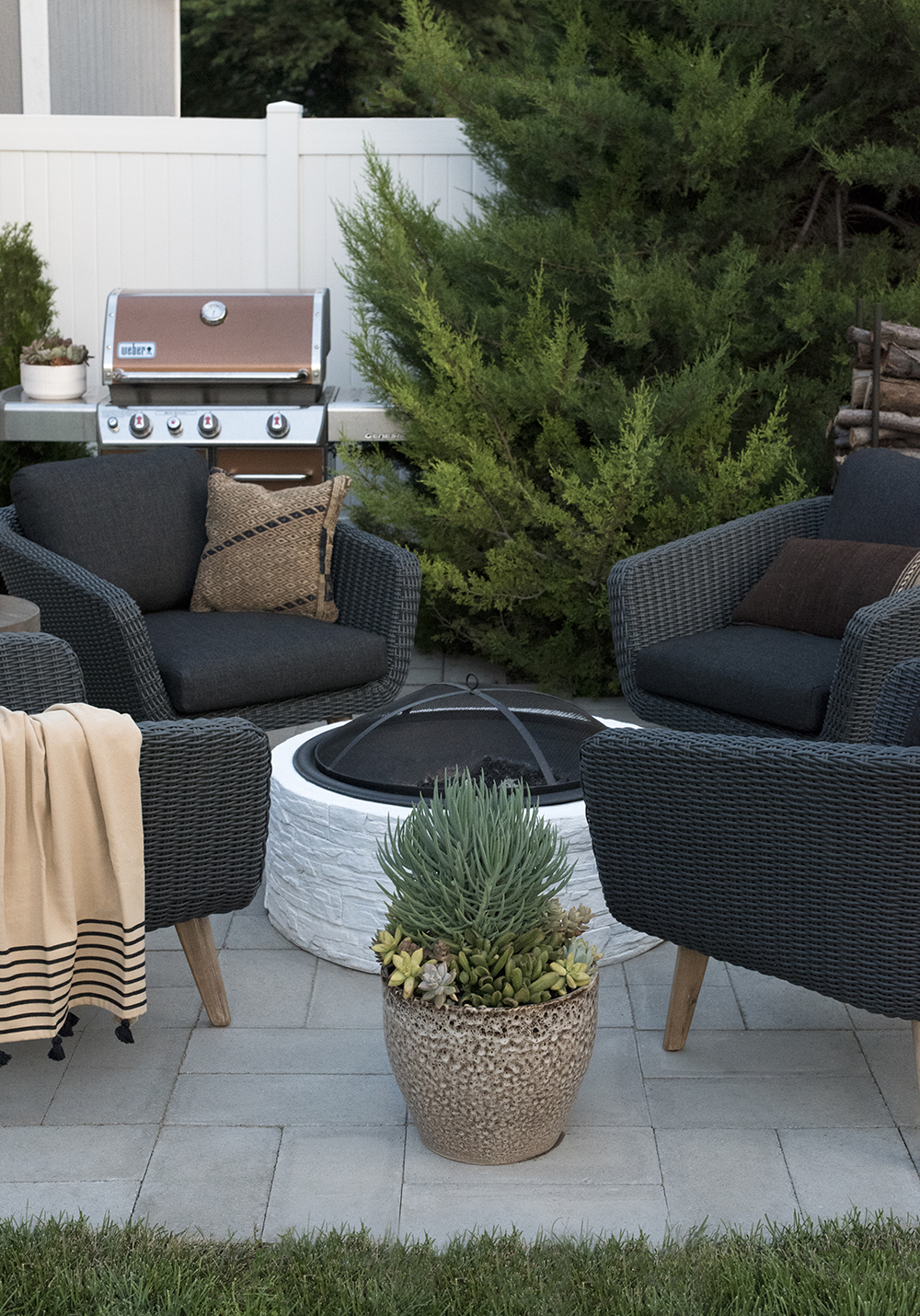 Outdoor Seating Area Around Fire Pit On Patio Room For Tuesday