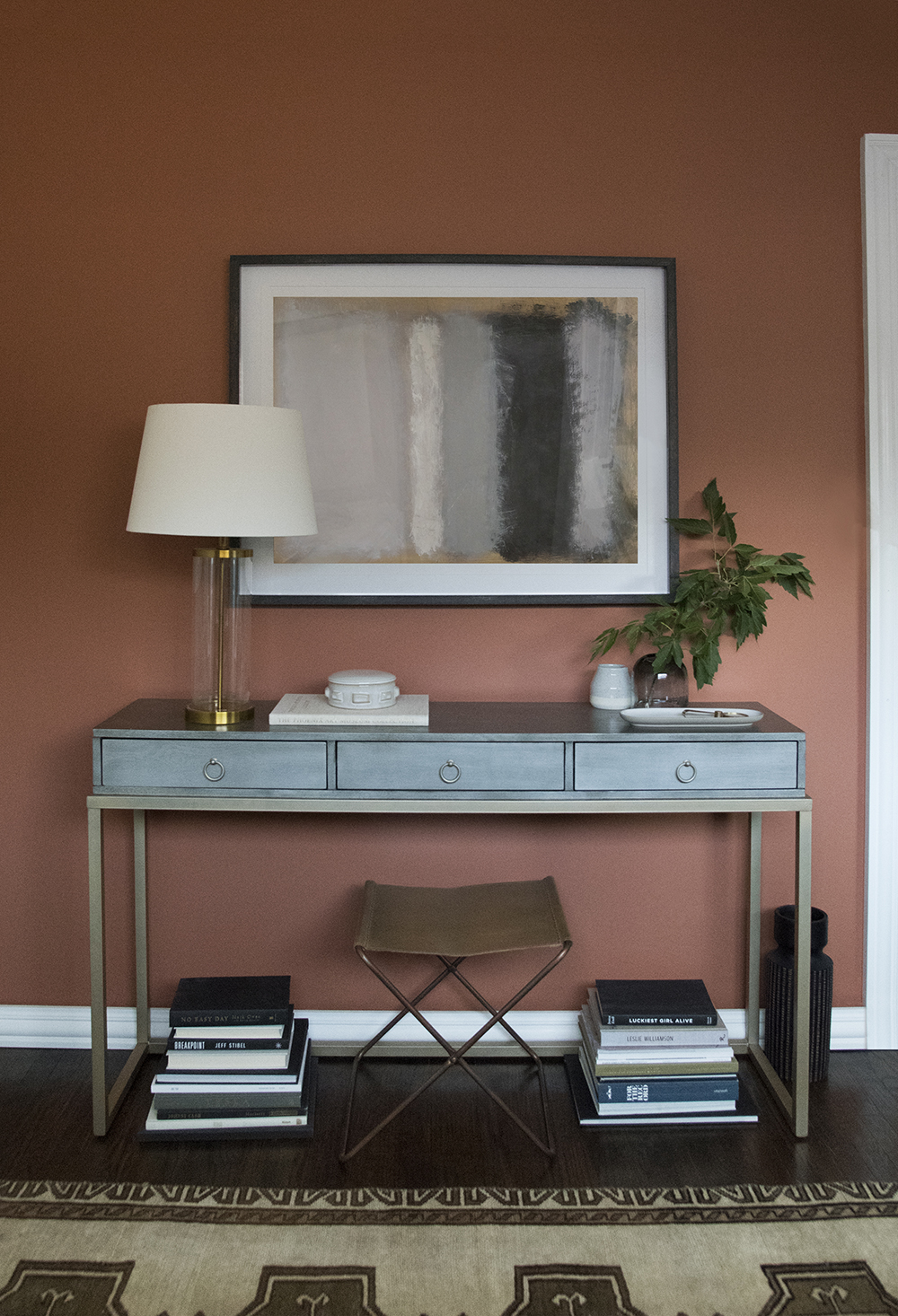 Accent Wall Using Terra Cotta Paint Color Room For Tuesday