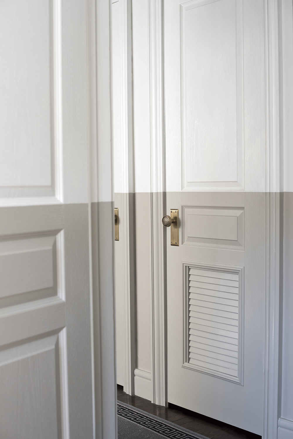 Vented Hallway Doors For Hot Water Heater And Furnace