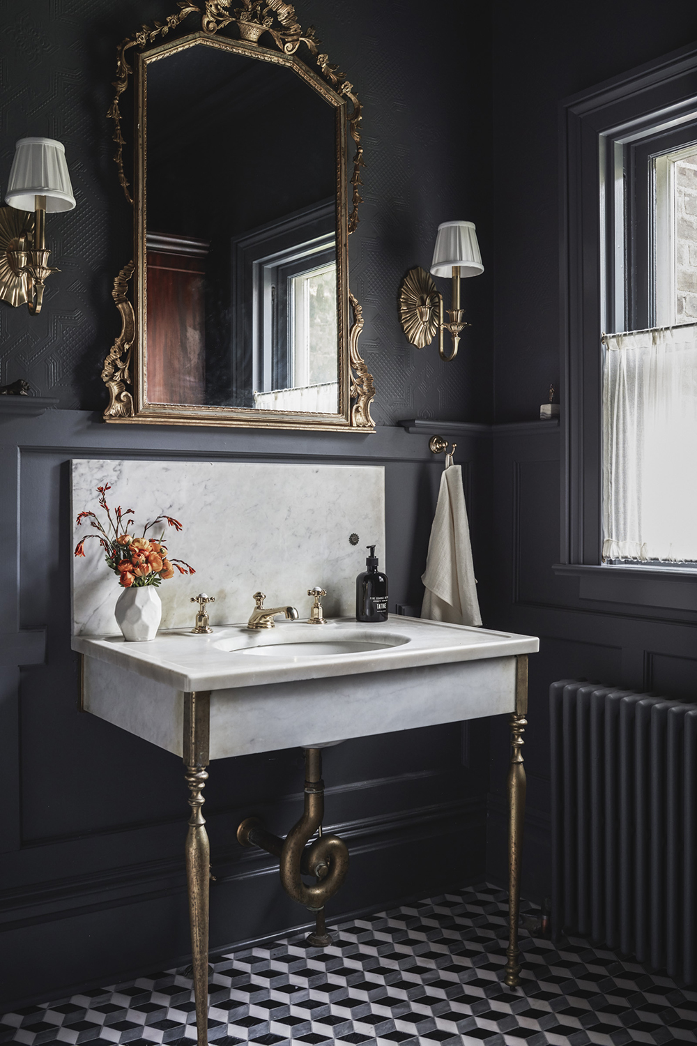 Marble Bathroom Sink With Brass Legs Room For Tuesday