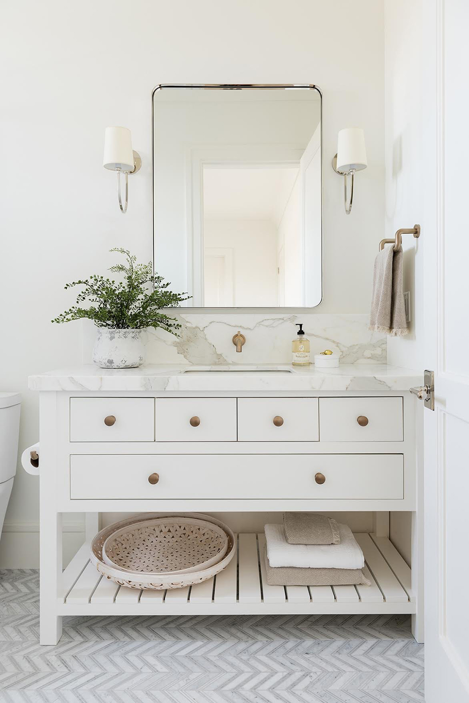 All White Bathroom Room For Tuesday, All White Bathroom