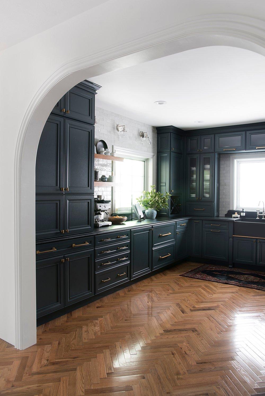 Herringbone Hardwood Floor in Kitchen   Room For Tuesday