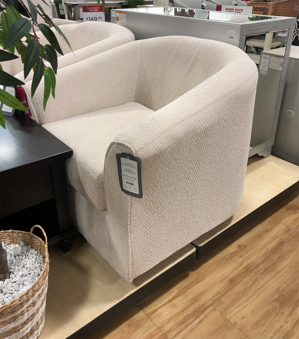 Homegoods White Swivel Chairs Room, Home Goods Chairs For Living Room