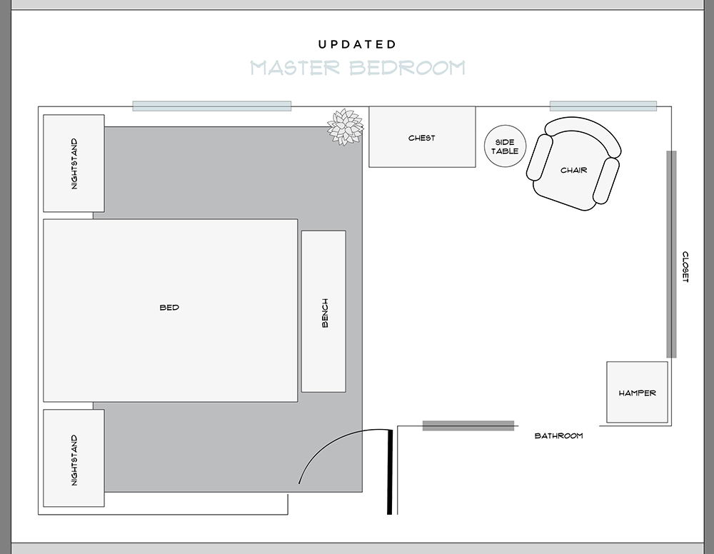 The Updated Master Bedroom Floor Plan Room For Tuesday