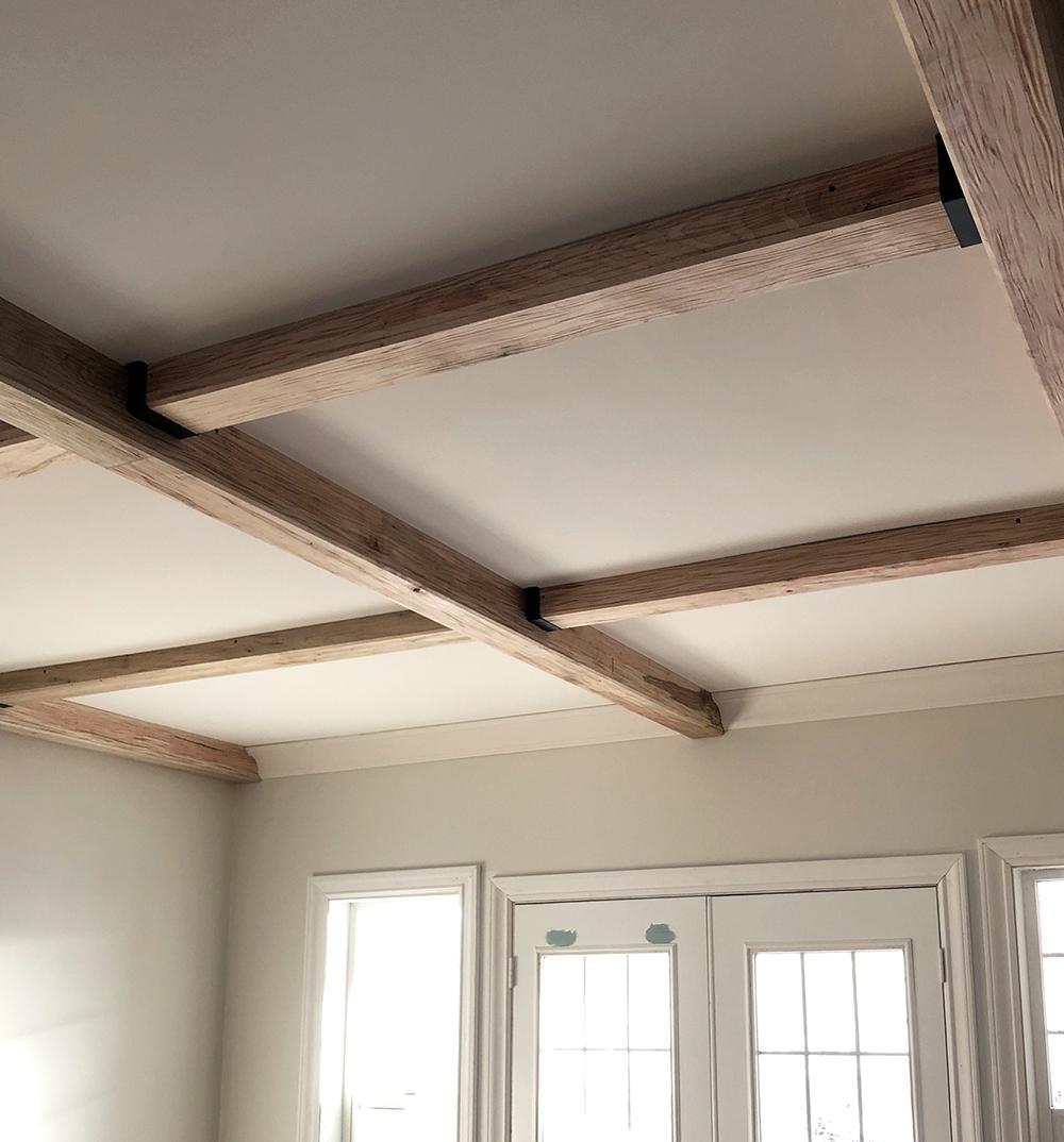 Wood Beams On Living Room Ceiling, Wood Beams In Living Room Ceiling